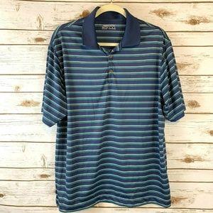 Nike Golf Polo Fit Dry Shirt Blue Green White